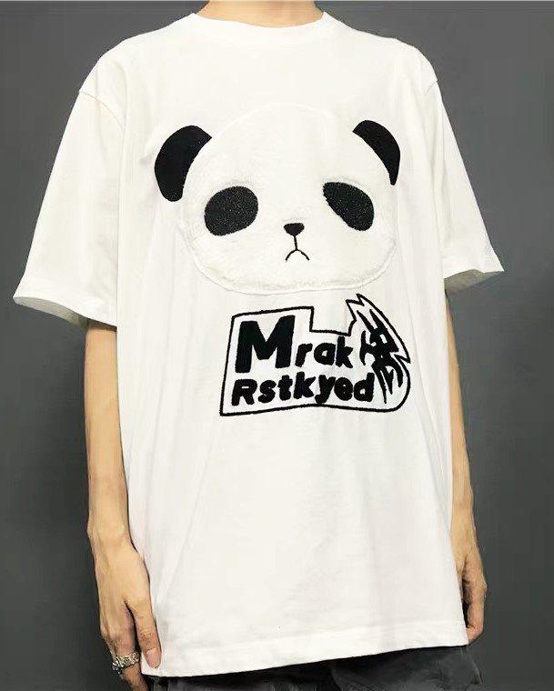 《3色》オーバーサイズパンダフェイスTシャツの画像6